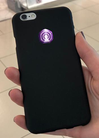 3D EMF zaštitni stiker Perun protector-ljubičasti